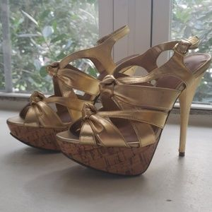Bakers Gold High Heels